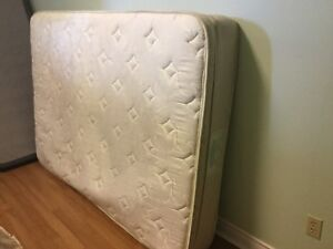 Delivery included. 2 yr old double pillowtop mattress boxspring