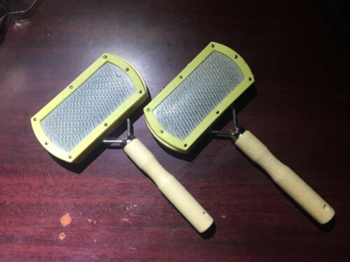 Pair Of Hand Carders For Spinning/Felting/Fly Tying Dubbing of Wool/Cotton/Silk