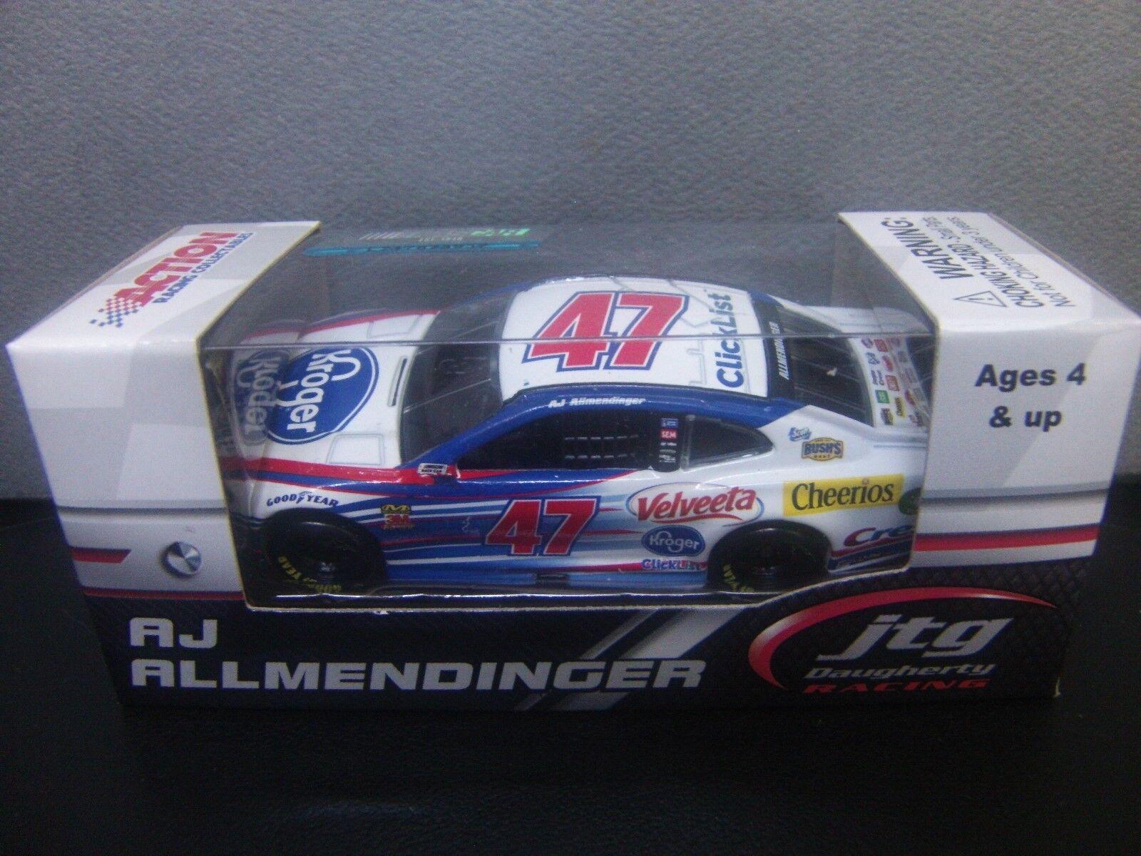AJ Allmendinger 2018 Camaro ZL1 NASCAR 1/64 Kroger #47 Monster Cup