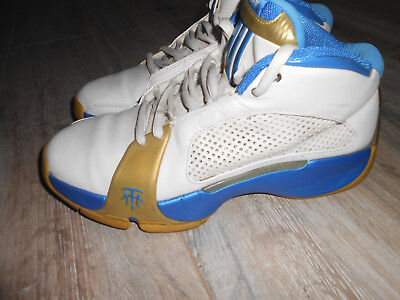 Team 2 Schuhe (Adidas Team T Mac 2 Sample Gr. 42 2/3 UK 8,5 weiß 534885 Basketballschuhe blau)