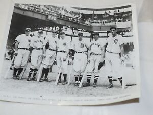"""1937 All-Star Game (July 7) at Griffith Stadium,Gehrig,DiMaggio more 8"""" x 10"""""""