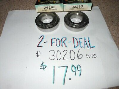2 Two 30206 Tapered Roller Bearings And Racesfree Shipping