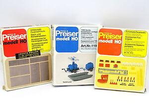 Preiser-Kit-para-montar-1-87-HO-Lote-de-3-Cajas-Accesorios-Bomberos-Feuerwehr