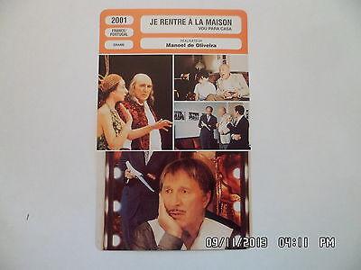 CARTE FICHE CINEMA 2001 JE RENTRE A LA MAISON Michel Piccoli Antoine Chappey