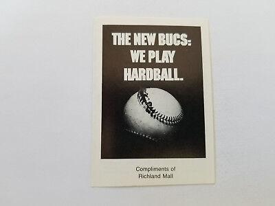 Pittsburgh Pirates 1986 MLB Baseball Pocket Schedule - Richland (Mall Pittsburgh)