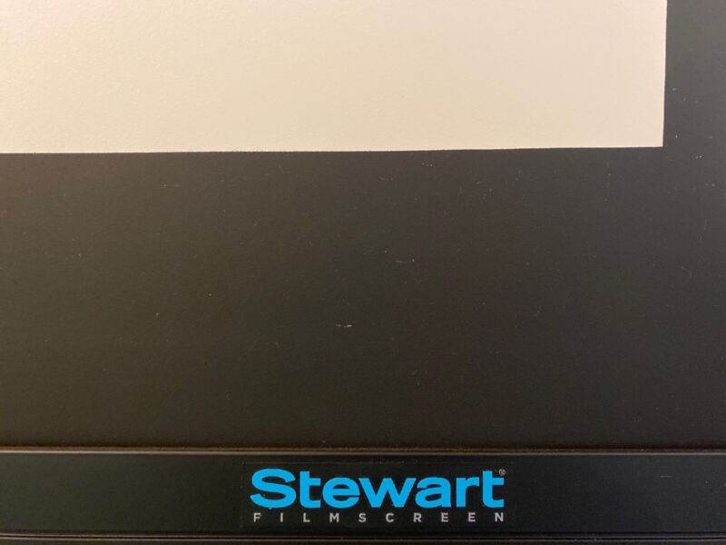"Stewart Filmscreen Videomatte 200 98"" LX098HVM20B Motorized Tab-tensioned Screen"
