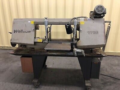 11 X 18 Wellsaw Model 1118 Horizontal Bandsaw Vari Speed