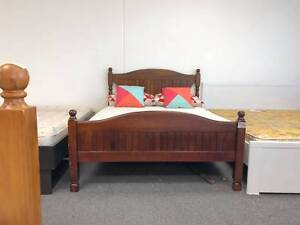 TODAYDELIVERY LUXURY CLASSICAL WOODEN Double bed frame (mattress)