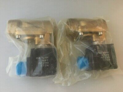 Lot Of 2 12 12v Dc Electric Brass Solenoid Valve Water Air Gas 12 Volt