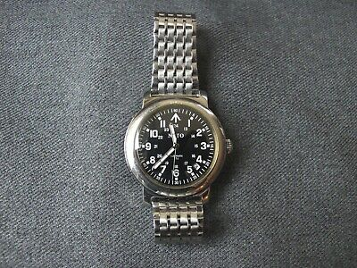 Rare NATO Military Automatic Watch Miyota Movement See through case back