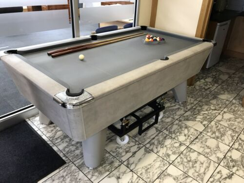 6ft Freeplay Supreme Winner Slate Bed Pool Table Limited Edition Concrete
