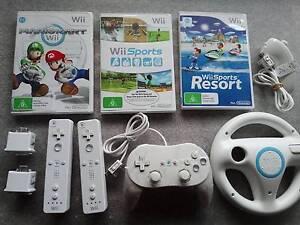 Wii remote Mario Kart Sports Resort Motion Plus Classic Wheel etc Hawthorn Boroondara Area Preview