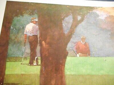 Bart Forbes Golf Art Print Morning Round Artist HAND SIGNED Payne Stewart - $19.00