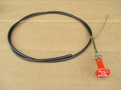 Fuel Stop Shut Off Cable For Ford 7810 7810o 8700 9700 Backhoe 655 655a Tw-10