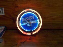 Trademark Gameroom Red Chrome Double Ring Neon Clock, 14
