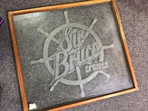 """Framed glass """"Sir Bruce Cruises"""" window Coomera Gold Coast North Preview"""
