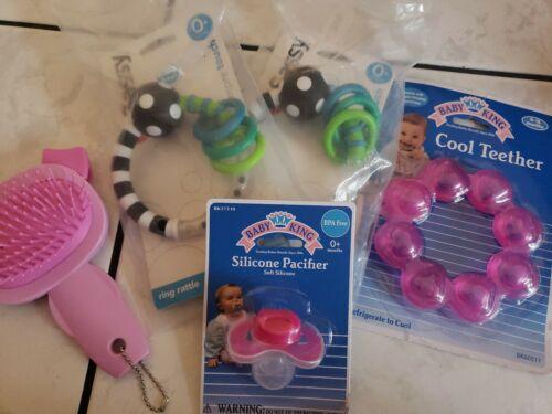 BABY LOT - TEETHING TEETHER RING, Pacifier, rattles, Brush -