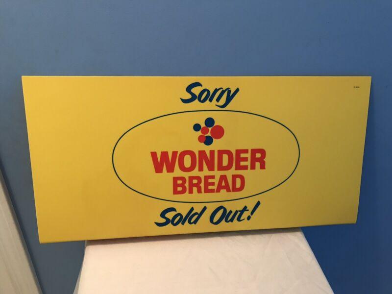 "Old Vintage Wonder Bread Store Advertising Display Counter Shelf Sign ( 27"" )"