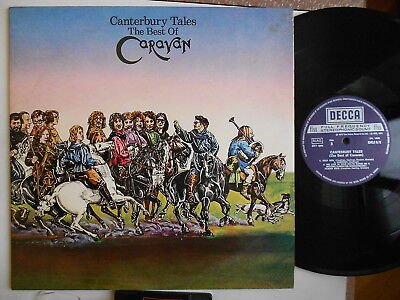 CARAVAN CANTERBURY TALES BEST OF ITALY 1973 1st PRESS EDITION  DECCA 2LP