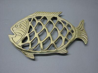 Messing  Untersetzer Topfuntersetzer  Stil 23 cm Stövchen Fisch  nautisch