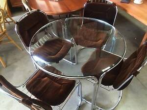 Dining Suite, Table, Chairs 5, 60's, chrome, retro WE DELIVER Brunswick Moreland Area Preview