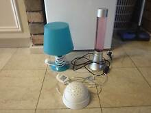 Turquoise Table Lamp & Rotating Ceiling Light, $10 Total Applecross Melville Area Preview