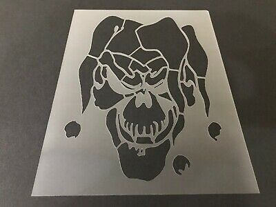 Clown #2 Stencil 10mm or 7mm Thick, Scary Clowns, Halloween, - Scary Clown Paint