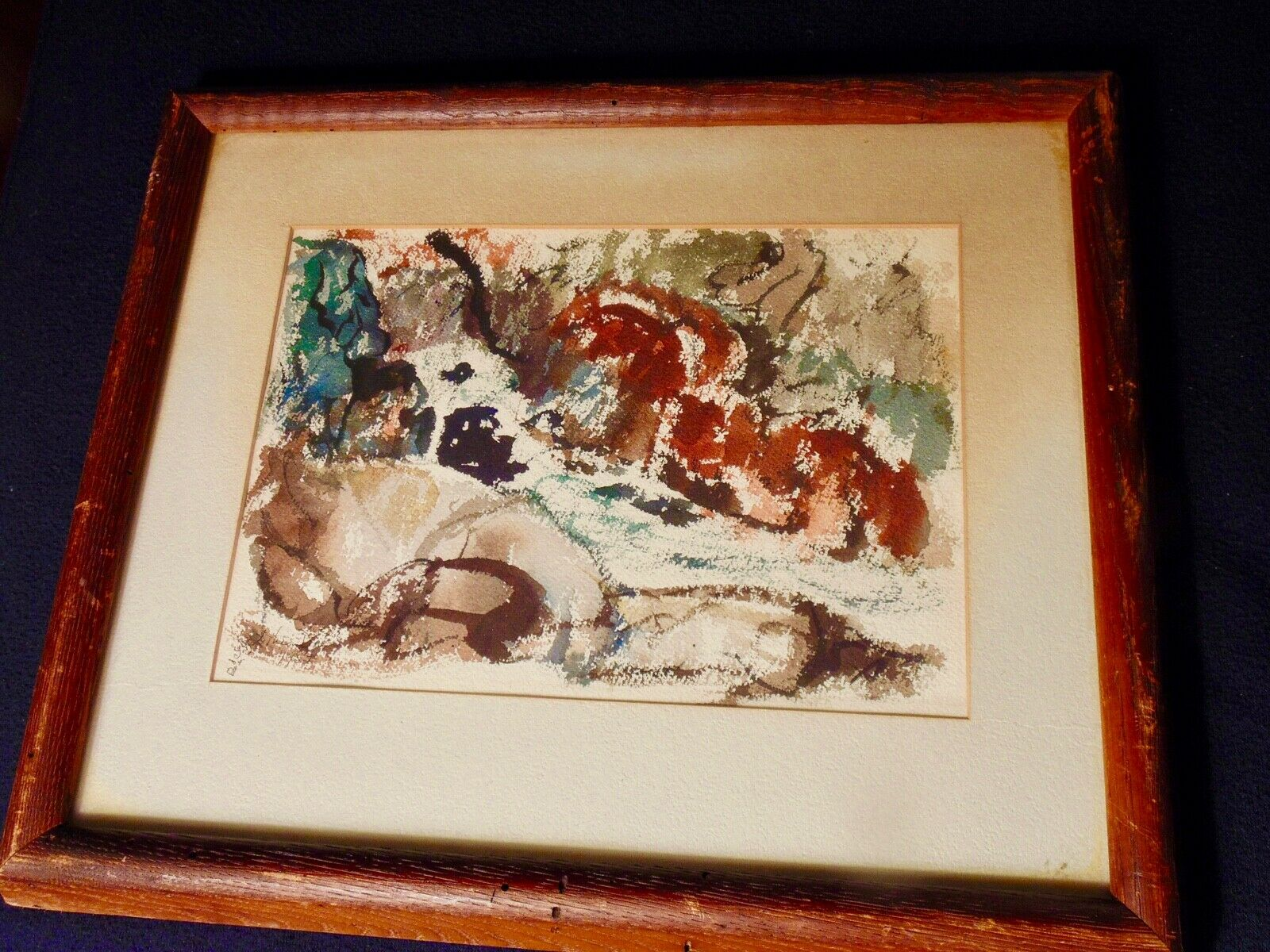 L. THEODORE DAVIS ALSO TED DAVIS ORIGINAL WATERCOLOR Sgn c.1940s LISTED-NR - $95.00