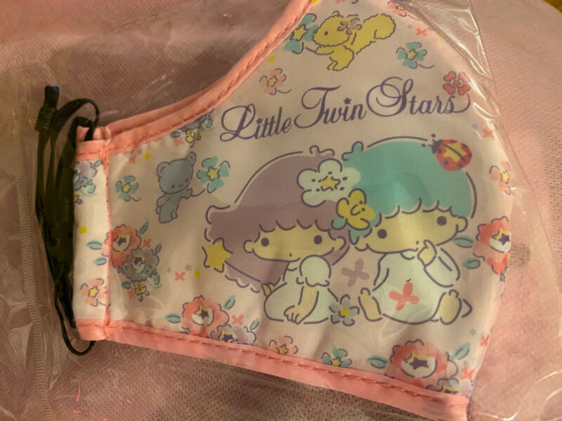 Little Twin Stars Face Mask Adult Size Washable