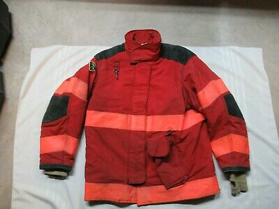 Lion Janesville 44 X 32r Firefighter Turnout Bunker Gear Jacket Coat Rescue Tow
