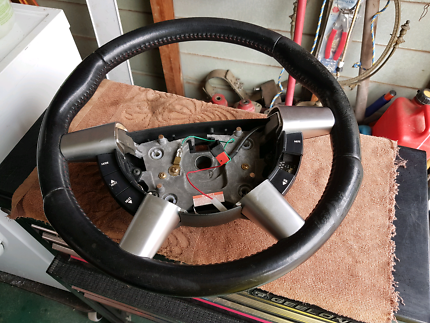 Holden ss vy vz leather wheel red stitching
