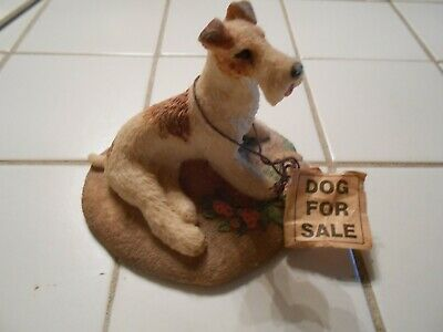 Vintage Charmstone Wire Hair Fox Terrier figurine by Earl Sherwan (Dog For Sale)