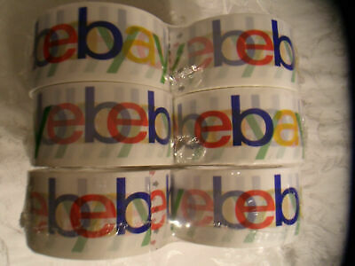 Genuine Authentic Official Ebay Logo Branded Tape Shipping Packing Bopp 6 Rolls