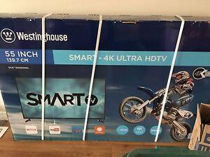 "Westinghouse 55"" 4K UHD Smart TV brand new"