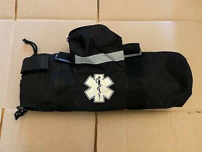 Oxygen Bag - Ems Medical Cylinder Sleeve O2 Supplies Bag - Black