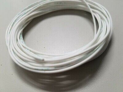 Tfe Wire 22 Awg Multi Stranded Hook Up Ul 1180 200c Silver 25 Feet White
