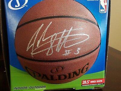 f580b3ffd01 john starks signed basketball autographed ball knicks the dunk michael  jordan