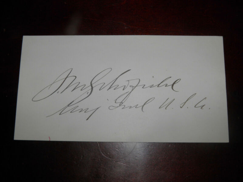 Civil War Union Major General John M. Schofield Signature W/Rank