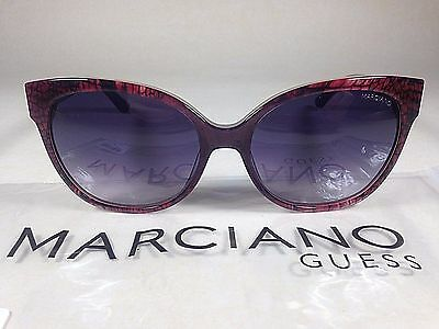 Guess By Marciano Women's Cat Eye Sunglasses Red Snake Purple Gradient $160 New