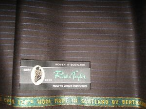Reid & Taylor 100% 17.5 MICRON SUPER 120's WOOL MADE IN SCOTLAND - 3.4 m.