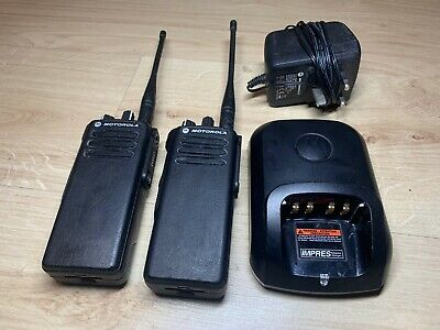 Motorola DP4400 UHF Two-Way Radios w/Batteries and Charger