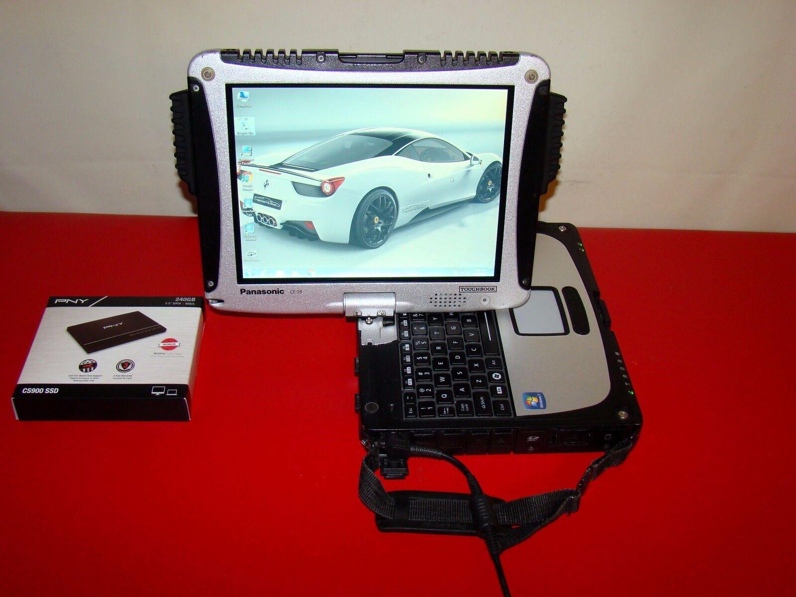 PANASONIC TOUGHBOOK CF-19 MK6 Core i5 2.60GHz SSD 240GB 8GB TouchScreen PICS