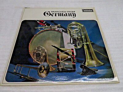 """MARCHES FROM GERMANY MILITARY BERLIN POLICE BAND HEINZ WINKEL  12"""" VINYL RECORD"""