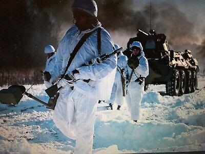 vintage (new) swedish military army medium / large snow camouflage jacket