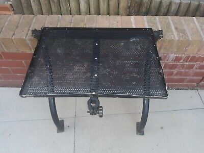 LARGE & VERY STRONG FISHING SEAT BOX SIDE TRAY WITH SUPPORTING LEGS A BIG ONE!