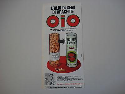 advertising Pubblicità 1969 OLIO DI SEMI DI ARACHIDE OIO