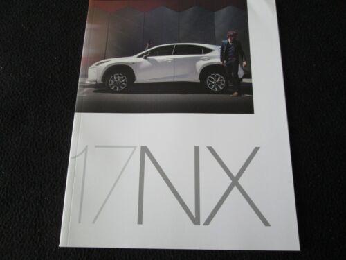 2017 Lexus NX Brochure NX Turbo F-Sport &