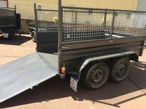8x5 Tandem with Ramp, cage, 12 months priv rego on road $3000