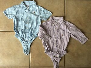 Gap 12-18 Month dress shirts with diaper cover