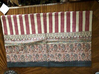 "$39.50 Pottery Barn Pomona Paisley Stripe Lumbar Pillow Cover 16 x 26"" NWT"